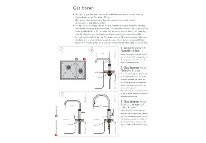 Quooker Flex Chroom met Combi + Boiler