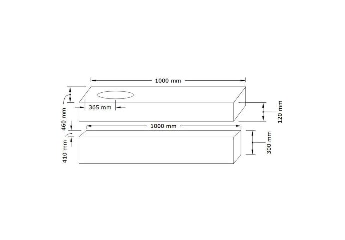 Badkamermeubel BWS Ibiza 100 cm Solid Surface Wastafel Mat Wit (zes varianten)