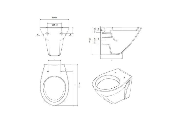 Wandcloset Laufen Royal Design Diepspoel wit | Tegeldepot Zeewolde