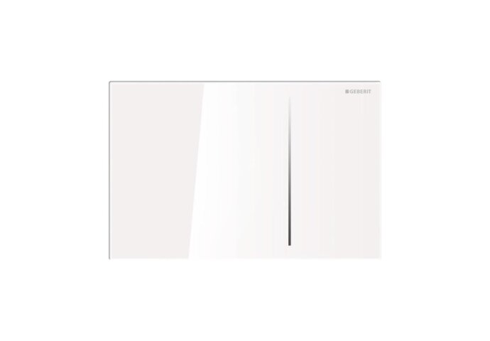 Bedieningsplaat Geberit Sigma 70 tav UP720 Glas Wit/Aluminium