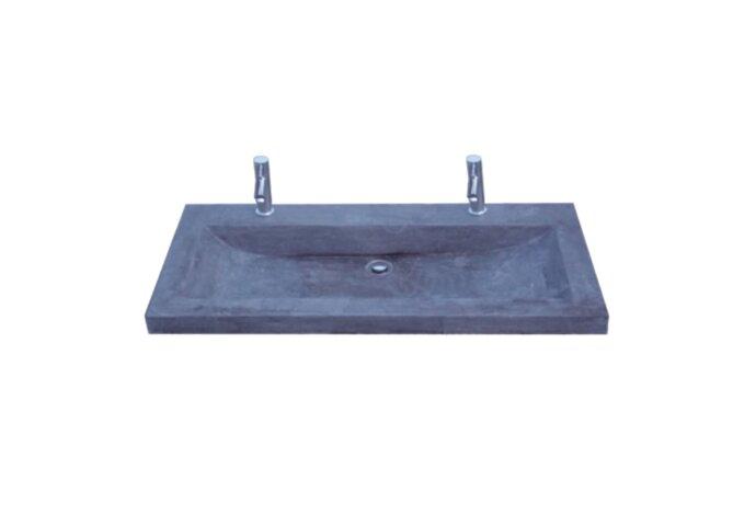 Wasblad Sanilux Trend Stone 100x47x5cm Natuursteen (met 2 kraangaten)