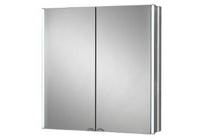 Plieger Lyndalu spiegelkast m. LED verlichting 65cm aluminium (Spiegelkasten)