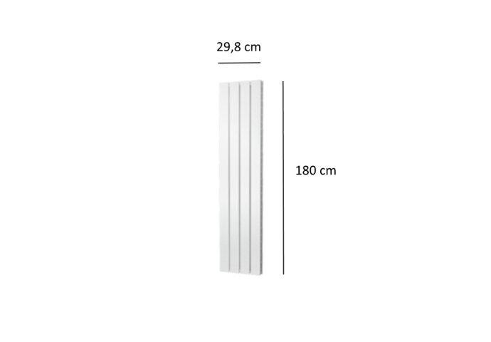 Designradiator Plieger Cavallino Retto Dubbel 817 Watt Middenaansluiting 180x29,8 cm Wit