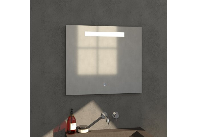 Badkamerspiegel met LED Verlichting Sanitop Light 80x70 cm