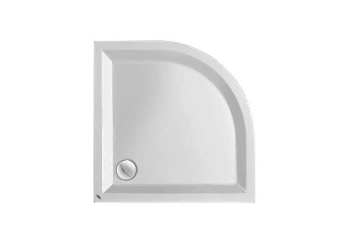 Douchebak acryl wit kwartrond 5cm hoog Radius 55
