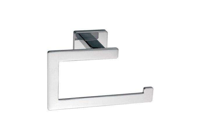 Toiletrolhouder Sanilux Cube Vierkant zonder klep Chroom
