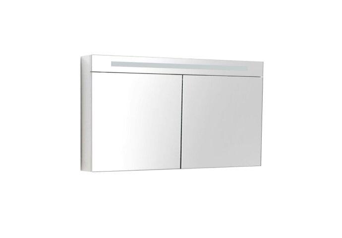 Spiegelkast Sanilux Deluxe 120x70x16cm met TL verlichting en stopcontact Wit