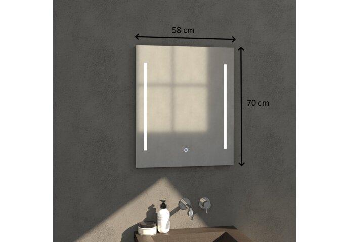 Badkamerspiegel met LED Verlichting Sanitop Deline 58x70x3 cm