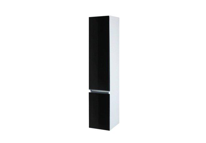 Kolomkast Isvea Twee Soft-Close deuren Greeploos 30x35x150 cm Links Hoogglans Zwart
