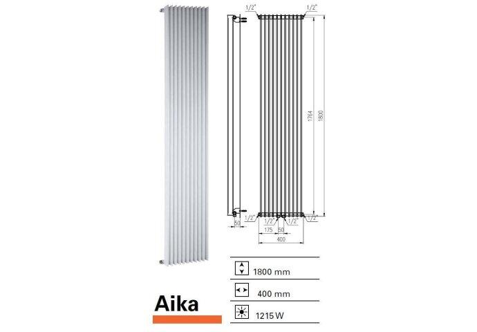 Designradiator Aika 1800 x 400 mm Mat Wit