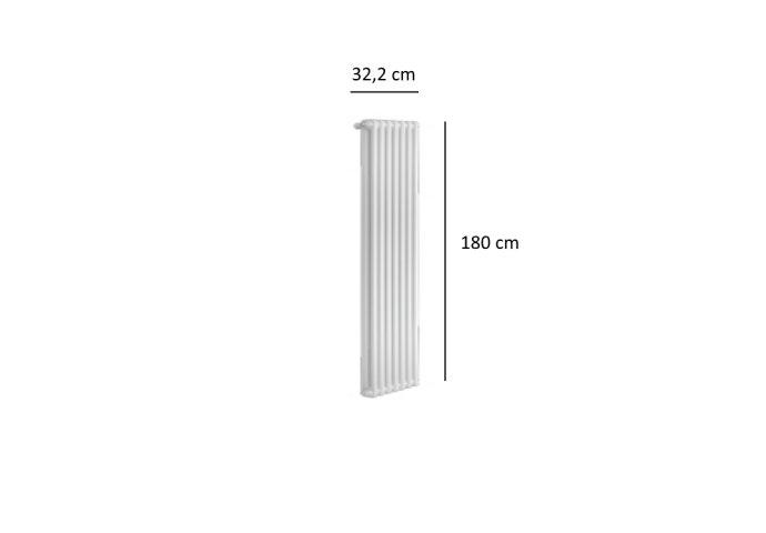 Designradiator Plieger Florence 903 Watt Zijaansluiting 180x32,2 cm Wit