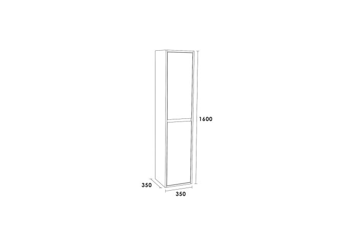 Hoge Kast New Future 160 Exclusive Line 160x35x35 Hoogglans Wit