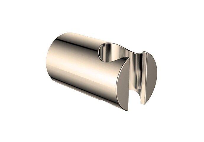 Luxe vaste handdouchehouder messing geborsteld staal