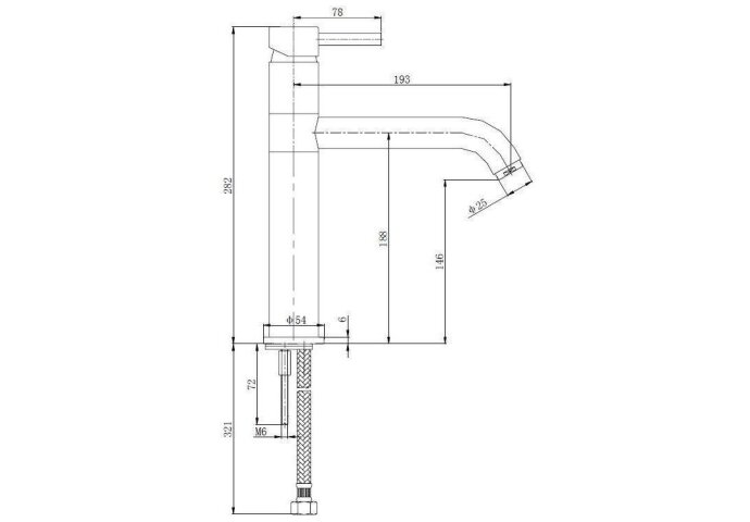 Keukenmengkraan Cadans geborsteld staal (RVS-LOOK) (Keukenkraan)