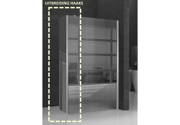 Zijwand Wiesbaden Hoekprofiel 40x200cm 10mm NANO coating