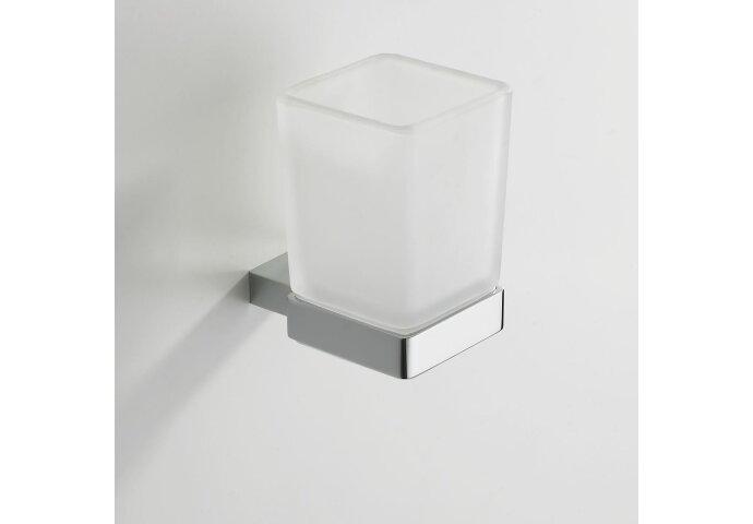 Eris glashouder/bekerhouder met glas chroom