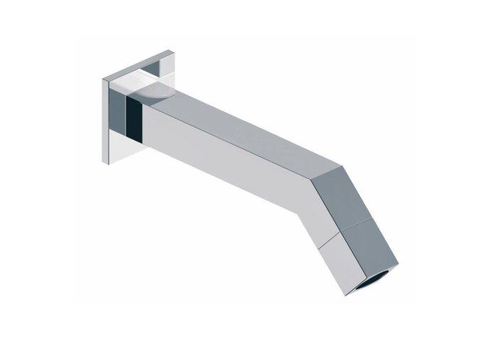 Kappa toiletkraan muur vierkant chroom 1/2 (Kranen overige)