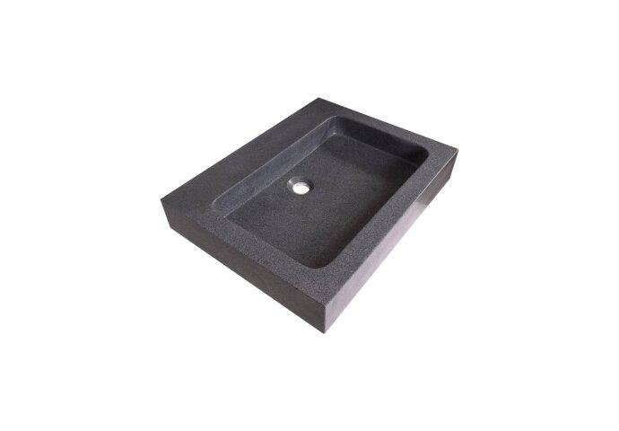 Wastafelblad Natuursteen Grey Stone 0 kraangaten 60 cm