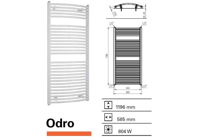 Designradiator Boss & Wessing Odro gebogen 1196 x 585 mm