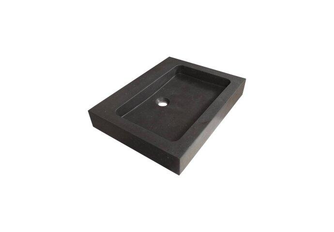 Wastafelblad Natuursteen Black Spirit 60 0 kraangaten