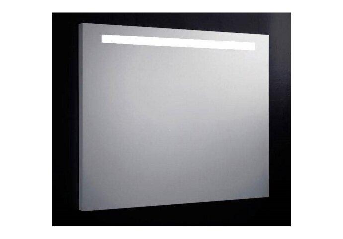 Spiegel Sanilux Mirror 100x80x4.5cm Aluminium met TL verlichting