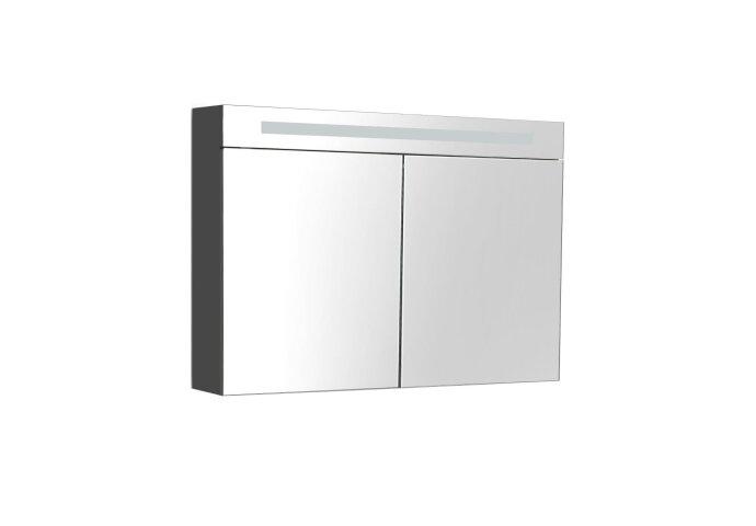 Spiegelkast Sanilux Deluxe 100x70x16cm met TL verlichting en stopcontact Antraciet