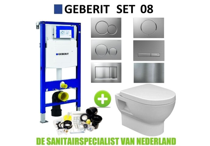Geberit UP320 Toiletset set08 Wiesbaden Mercurius met Sigma drukplaat