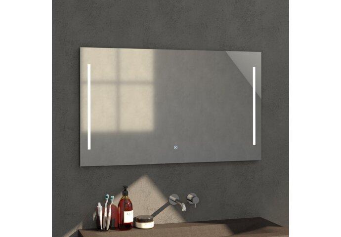 Badkamerspiegel met LED Verlichting Sanitop Deline 118x70x3 cm