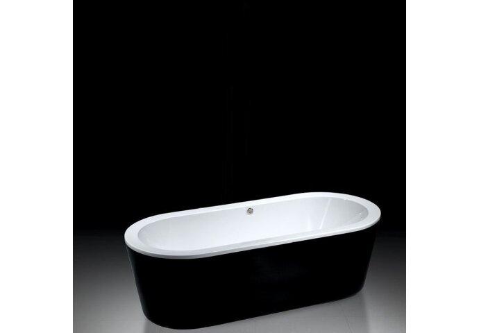 Vrijstaand ligbad Best Design Black & White 178x80x55cm