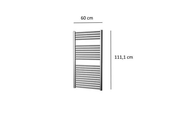 Designradiator Plieger Palermo 424 Watt Zijaansluiting 111,1x60 cm Chroom