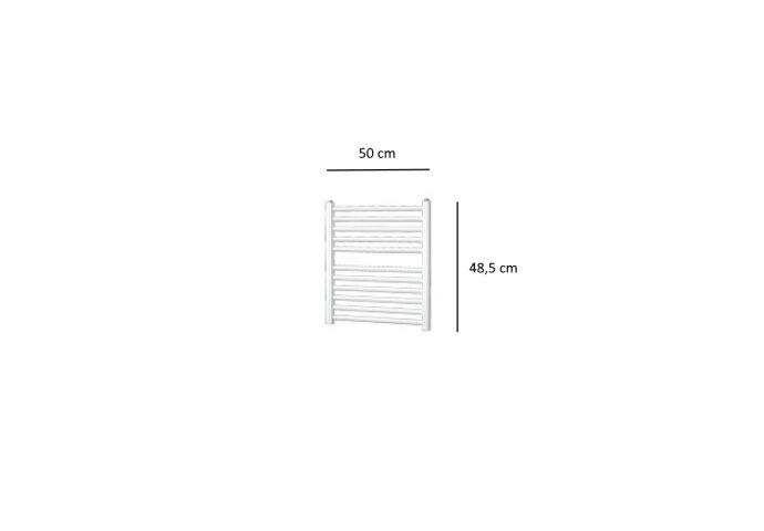 Designradiator Plieger Quadro 204 Watt Zijaansluiting 48,5x50 cm Wit