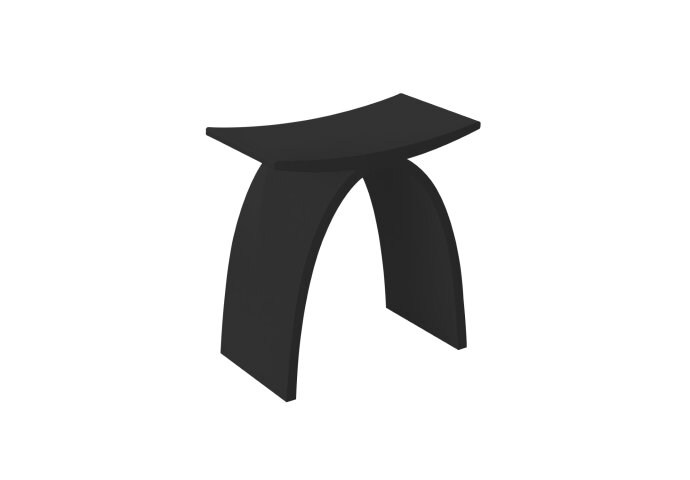 8 Zwarte Design Stoelen.Badkamer Stoel Best Design Lucky Black Solid Surface Zwart