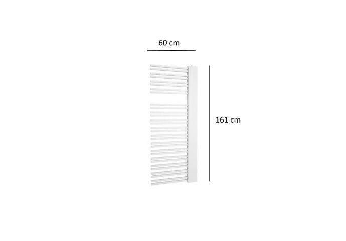 Designradiator Plieger Frente Sinistra 933 Watt Middenaansluiting 161x60 cm Wit