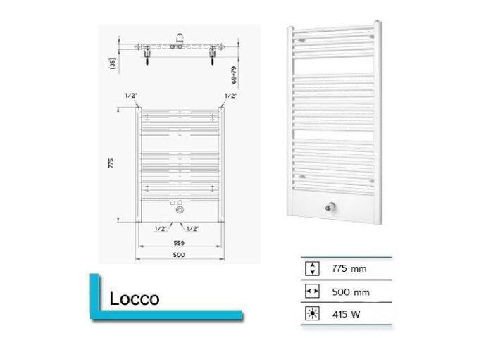 Designradiator Boss & Wessing Locco 775 x 600 mm