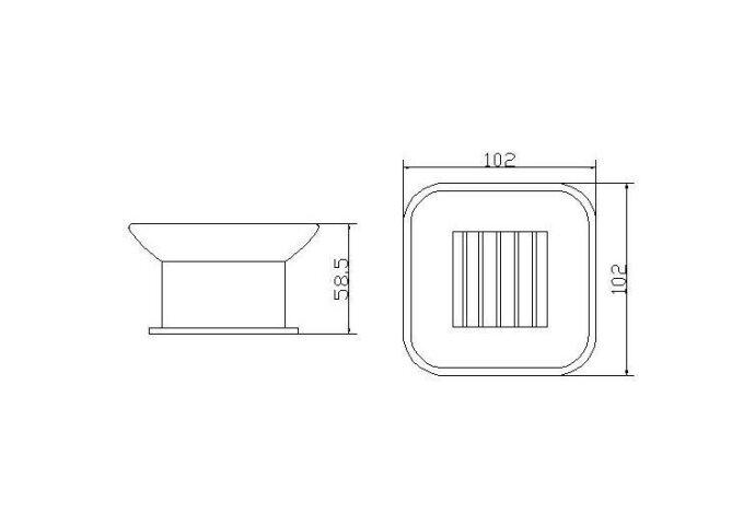 Eris vrijstaande zeepschaal chroom (Accessoires)