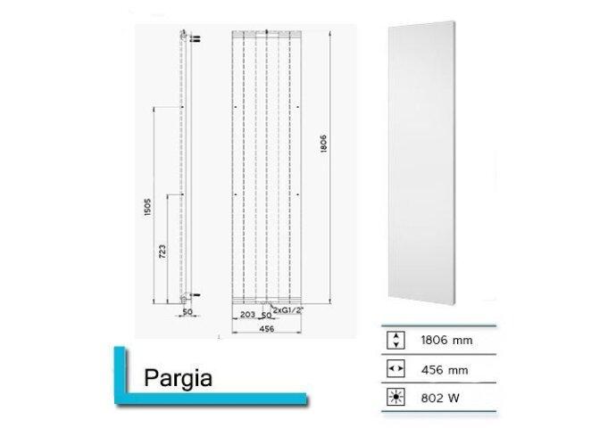 Handdoekradiator Pargia 1806 x 456 mm Zwart