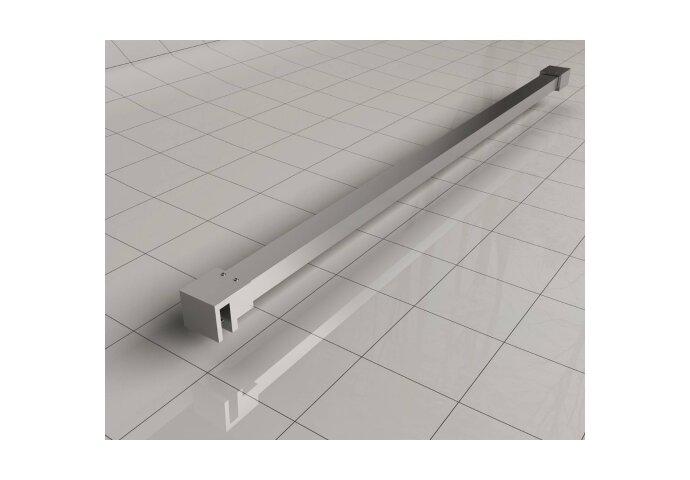 BWS Inloopdouche Pro Line Helder Glas Chroom Profiel en Stabilisatiestang (ALLE MATEN)