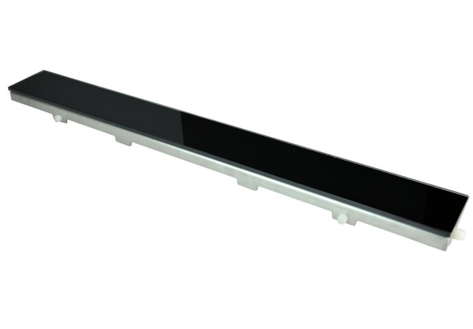 Glasrooster zwart 700x70 tbv RVS douchegoot