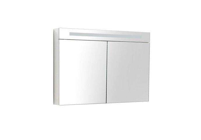 Spiegelkast Sanilux Deluxe 100x70x16cm met TL verlichting en stopcontact Wit