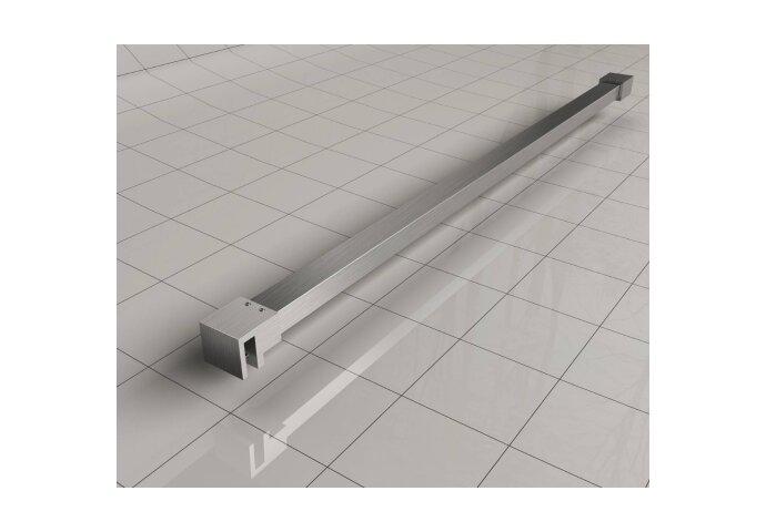 BWS Inloopdouche Pro Line Helderglas 50x200 8mm Nano Coating RVS Profiel en Stang