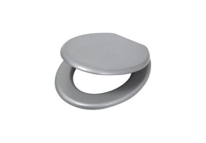Closetzitting Plieger Classic MDF met Metalen Bevestigingsset Alu/Metallic