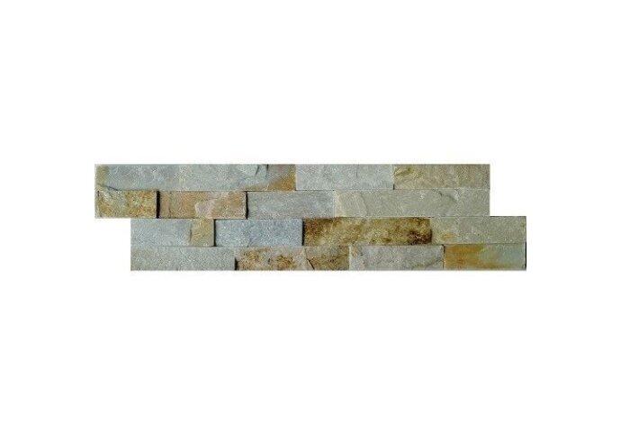 Wandtegel Schiste flatface stonepanel beige slate 15x60x2/3 (p/Stuk) (Wandtegels)