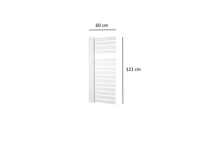 Designradiator Plieger Frente Destra 690 Watt Middenaansluiting 121x60 cm Wit