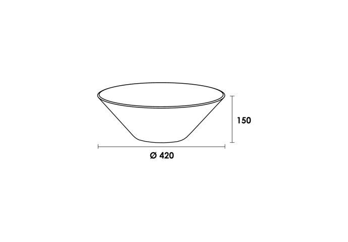 Opbouwwastafel keramiek Kono (420x420x150 mm)