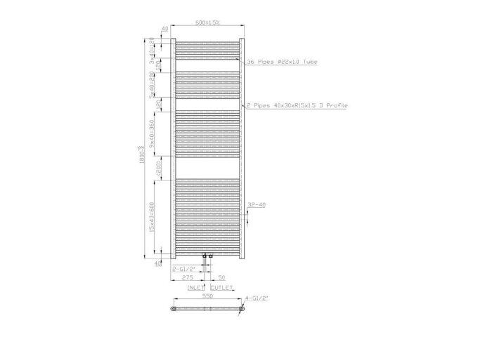Designradiator Sanilux Lydia (4 uitvoeringen)