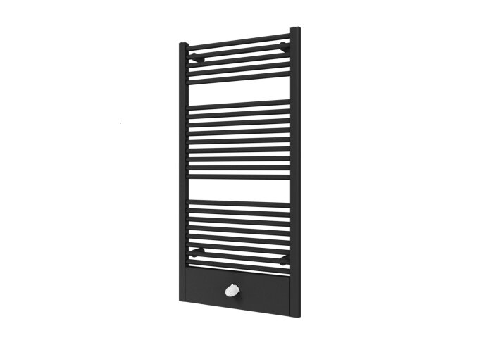 Designradiator Boss & Wessing Locco Middenaansluiting 121,5x60 cm 660 Watt Black Graphite