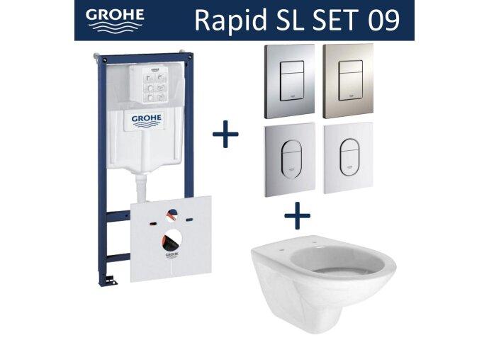 Grohe Rapid SL Toiletset set09 Boss & Wessing Brussel met Grohe Arena of Skate drukplaat
