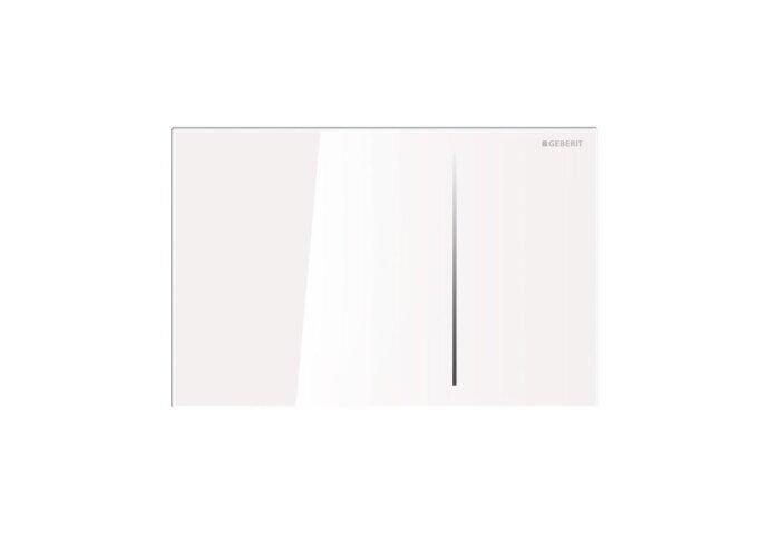 Bedieningsplaat Geberit Sigma 70 tav UP320 Glas Wit/Aluminium