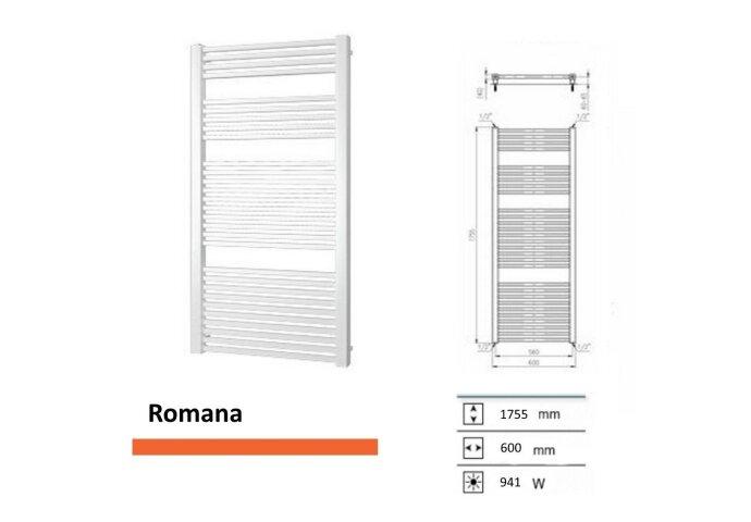 Designradiator Boss & Wessing Romana 1755 x 600 mm | Tegeldepot.nl