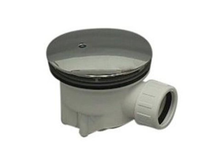 Douchebaksifon met plug 90mm, 40mm klemaansluiting chroom